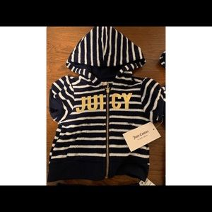 Juicy Couture Kids Blue & White Striped Set